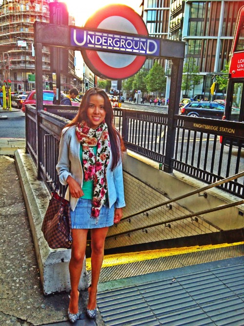 American eagle skirt, Top shop blazer, zara top, massimo dutti foulard, Kurt krieger